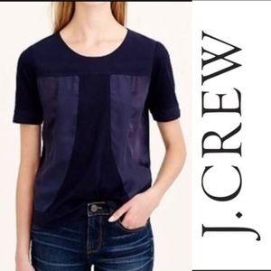 J.CREW Black seamed panel T-shirt
